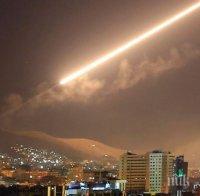противовъздушната отбрана сирия отблъсна атака покрайнините дамаск