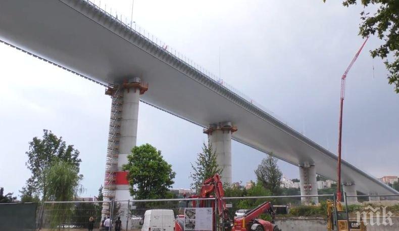 """Президентът на Италия откри новия мост в Генуа, построен на мястото на срутилия се """"Моранди"""""""
