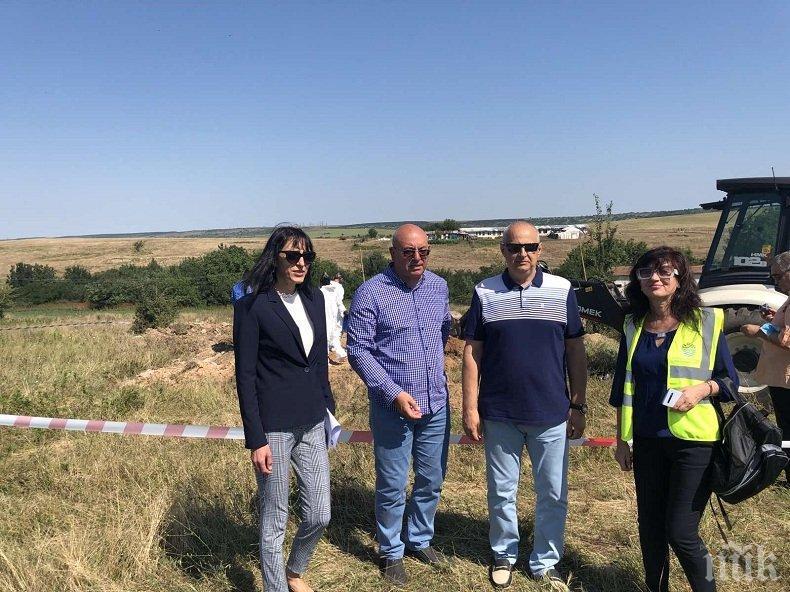 Откриха 19 тона загробени пестициди на два обекта край Червен бряг