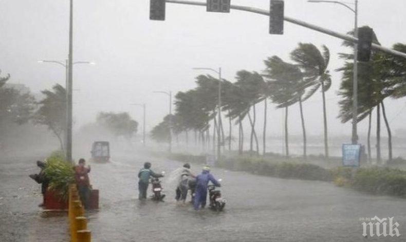 """Тайфунът """"Хагупит"""" достигна източното крайбрежие на Китай"""