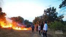 Овладяха пожара край полигона до Корен