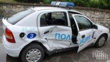 Кола се натресе в патрулка в Бургас