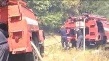 Пет пожарни гасят гората при Мало Крушево