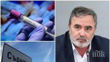 Доц. Ангел Кунчев с гореща новина: Мисли се за болница, в която да лекуват само болни от коронавирус! Не трябва да се пуска публика на стадионите