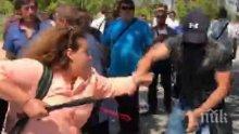 ИЗВЪНРЕДНО: Полицията задържа нападателя над журналистите след конференцията на ГЕРБ