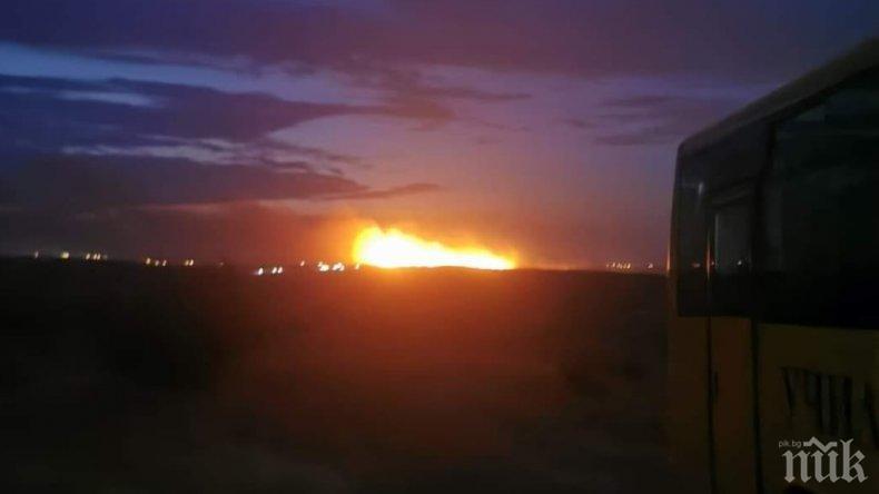 ОТ ПОСЛЕДНИТЕ МИНУТИ: Евакуираха хасковско село заради големия пожар