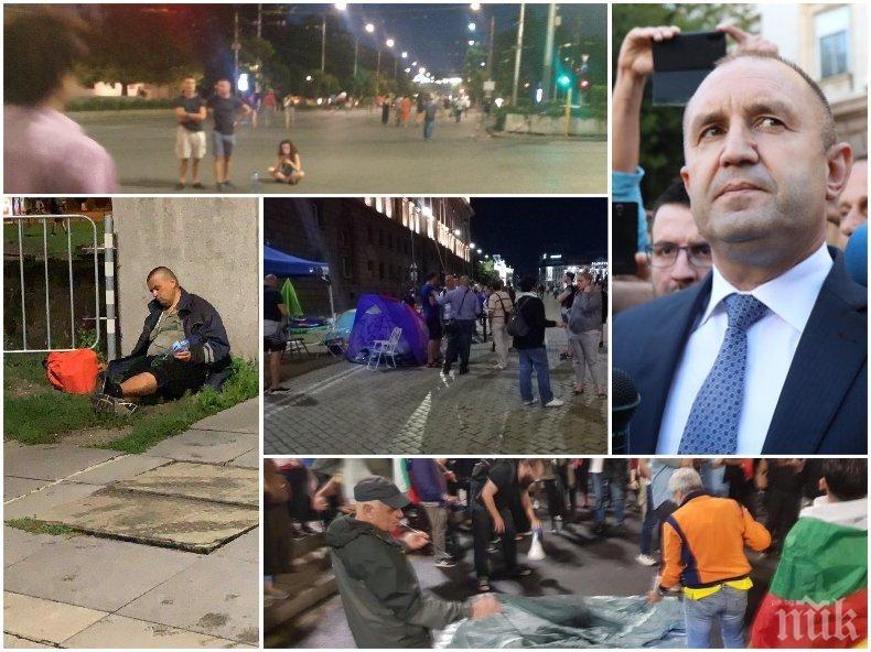 Метеж на Орлов мост - агитките на Божков пробват блокада, Радев ги нахъсва през Фейсбук (СНИМКИ/ВИДЕО)