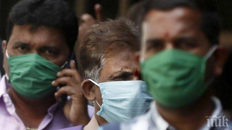 Индия с нов черен рекорд в борбата с коронавируса