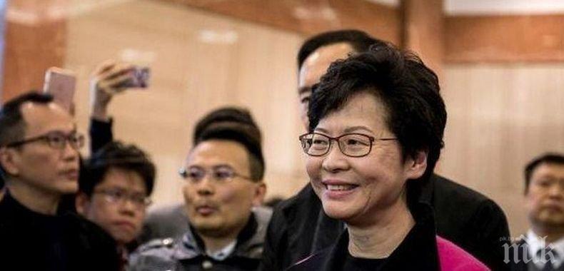 САЩ наложиха санкции на губернатора на Хонконг Кари Лам