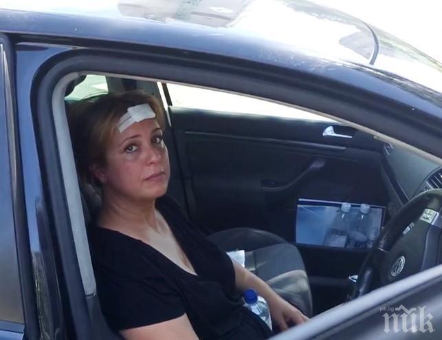 Ето я шофьорката, която натресе патрулка в Бургас