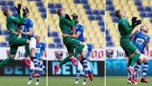 УЖАС: Контузиха пениса на бивш футболист на Лудогорец и зашиха пораженията директно на тъч линията (СНИМКА)