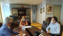 """Вицепремиерът Марияна Николова проведе работна среща с представителя на германския туроператор """"Дер Туристик"""" (СНИМКИ)"""