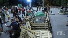 Метежниците отново обсадиха кръстовището при Ректората! Готвят нови блокади