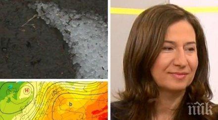 Анастасия Стойчева предупреждава за градушки