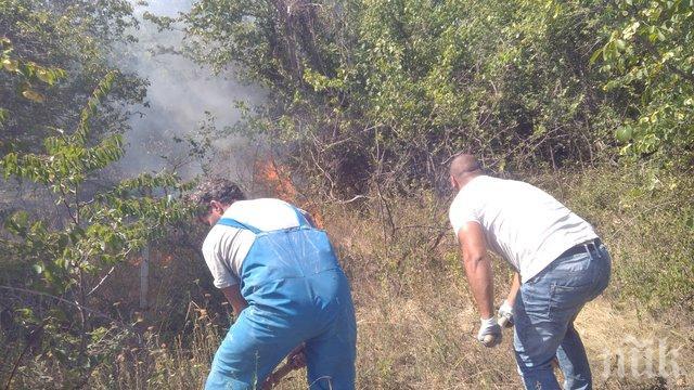 58 огнеборци излязоха срещу пламъците край Дивдядово