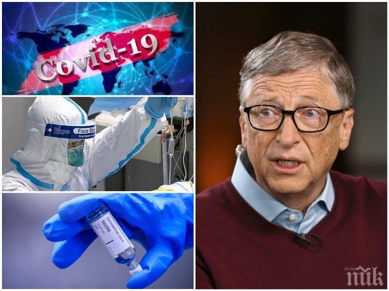 Бил Гейтс: COVID-19 ще бъде спрян едва след две години и половина
