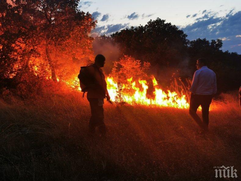 Евакуират хора заради пожара край Тополовград и Свиленград