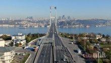 Рекорден спад на туристите в Истанбул