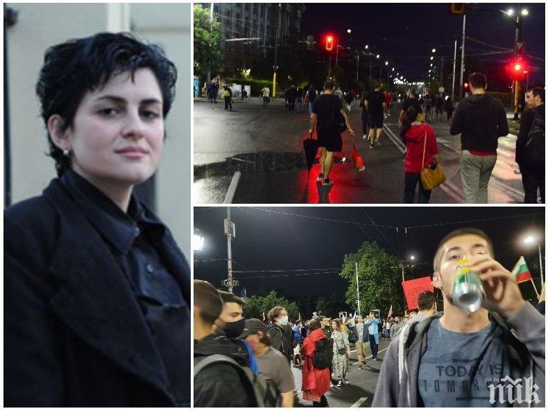 Журналистката Калина Андролова: Агресията на протестърите е силно неприятна, да не им пречим да са неприятни