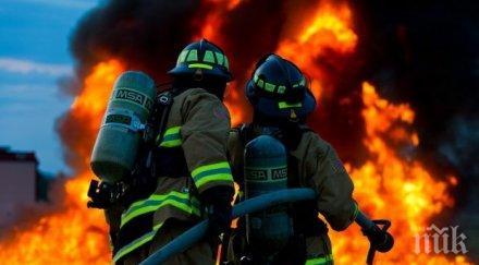 четири екипа пожарната борят огнена стихия пловдивско село