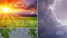 ПЪСТРА ПАЛИТРА: Много слънце, но и облаци, дъжд и гръмотевици. Жълт код за високи температури за три области (КАРТИ)