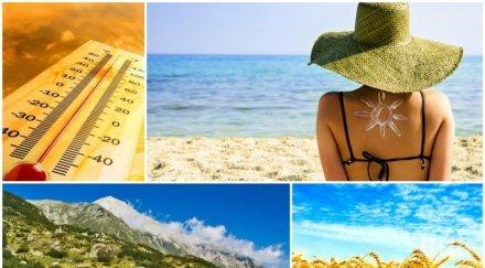 чудесно време слънчево максимални температури 26° 31° лек вятър прогонва жегата карта
