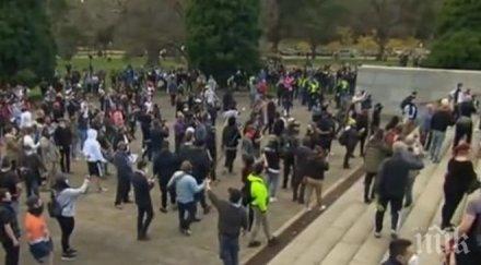 протест ограничителните мерки заради коронавируса австралия