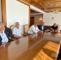Премиерът Борисов на среща с КНСБ за