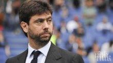 Шефът на Ювентус с притеснителна и мрачна прогноза за парите във футбола
