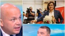 Корнелия Нинова заля телевизиите със свои хора. Сашо Симов лъска имиджа на шефката си пред Божков ТВ