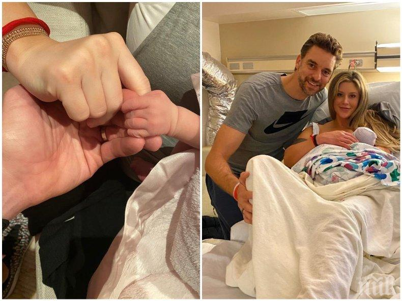 Пау Гасол кръсти бебето си на дъщерята на Коби Брайънт