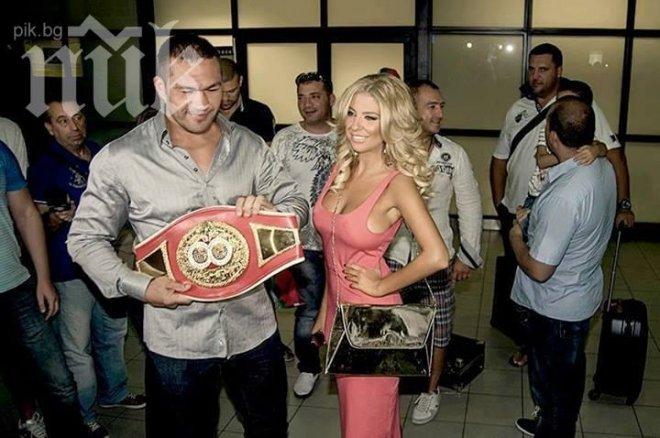 Фолкзвездата Андреа посрещна Кубрат Пулев след триумфа му (Снимки)