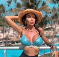 Деси Димитрова се къпе в шампанско на Малдивите (ГОРЕЩА СНИМКА)