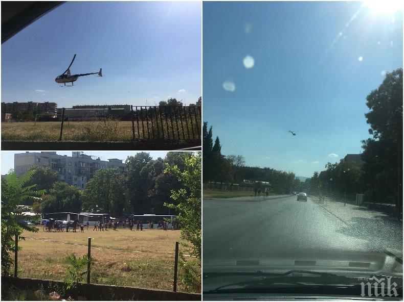 Хеликоптер с новородения Асан Паша кацна в Столипиново, взе го царска карета (ВИДЕО)