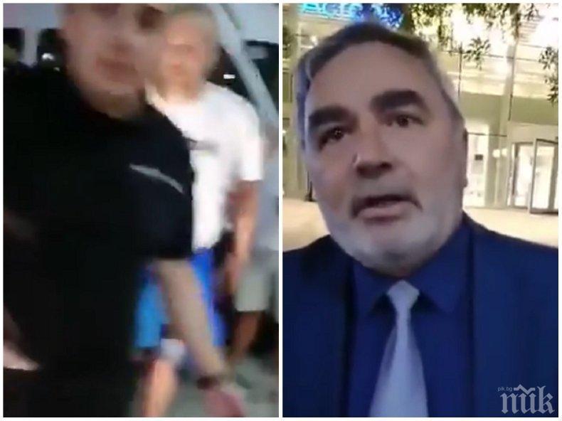 СКАНДАЛНО: Метежниците с грозна провокация - нападнаха доц. Ангел Кунчев и скочиха пред колата му: Иска да ни сгази (ВИДЕО)