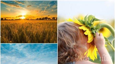 златна есен слънцето грее щедро температурите стигнат летни стойности градуса