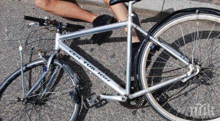 кола натресе велосипедист разград потроши