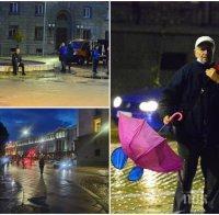 Дъждът окончателно разгони метежниците (СНИМКИ)