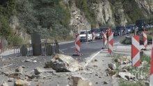 ТАПА: Свлачище в Кресненското дефиле блокира главен път Е-79