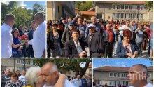 """ПЪРВО В ПИК TV: Стотици посрещат с викове """"Браво"""" Борисов в Лесидрен: Ние сме народът и сме повече от онези в София на площада! Премиерът: Видя се, че БСП и ДПС са заедно на изборите срещу нас и пак ги бихме вчера (ВИДЕО/СНИМКИ)"""
