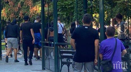 Скинари вилнеят в центъра на Пловдив, търсят сблъсък с гей общности (ВИДЕО)