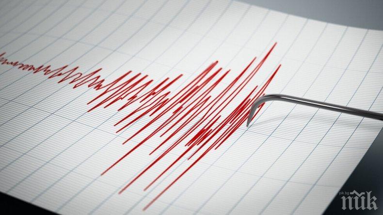 Земетресение с магнитуд 4.0 по скалата на Рихтер бе регистрирано край  Командорските острови