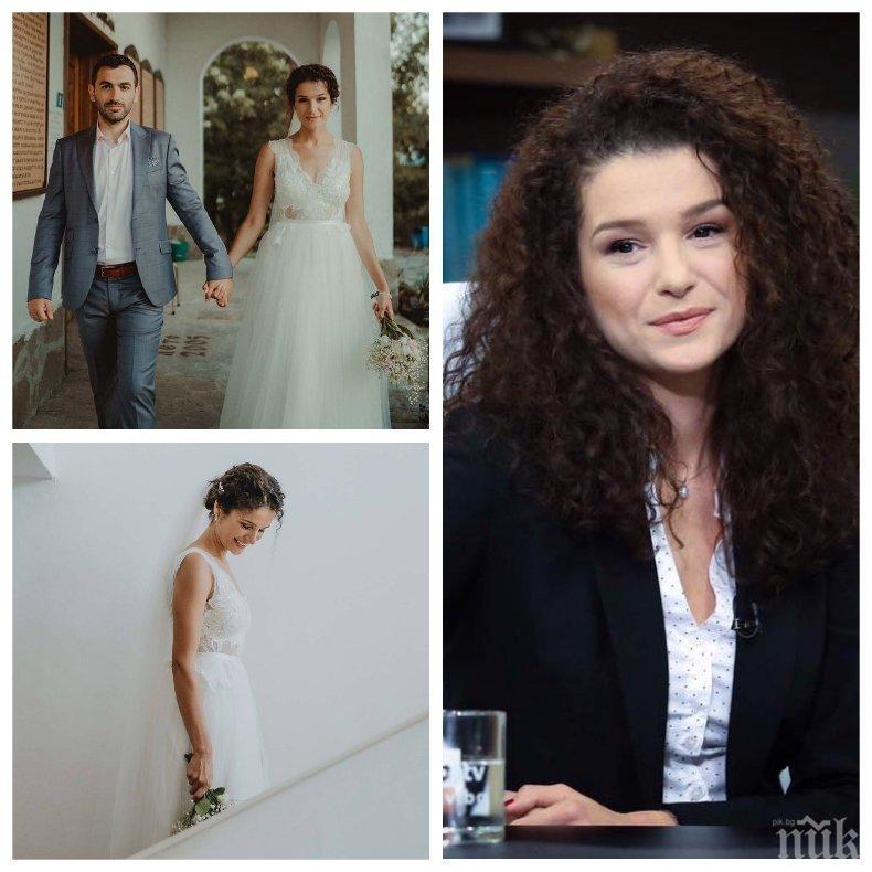 Вижте официалната ФОТОСЕСИЯ от сватбата на тв водещата Алекс Кръстева