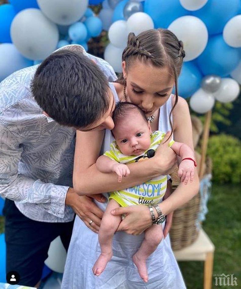 2-месечният син на Нанси Карабойчева на поход до Фотинските водопади (СНИМКА)