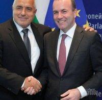 Манфред Вебер с подкрепа към Борисов: Редовните избори през март ще решат за България - правителството е напреднало и се доближава до еврото и Шенген