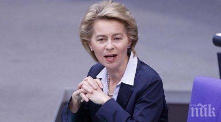 урсула фон дер лайен напусна заседанието европейския съвет самоизолира заради сътрудник covid