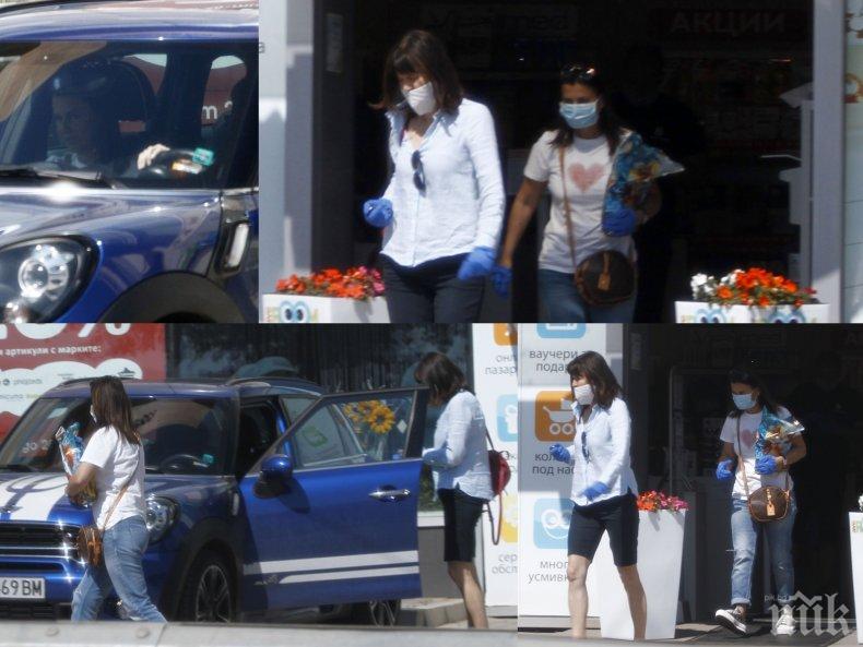 """ХАЙЛАЙФ: Жената на Цветанов на шопинг с кумичката от лукс апартаментите на """"Артекс"""" (ПАПАРАШКИ СНИМКИ)"""