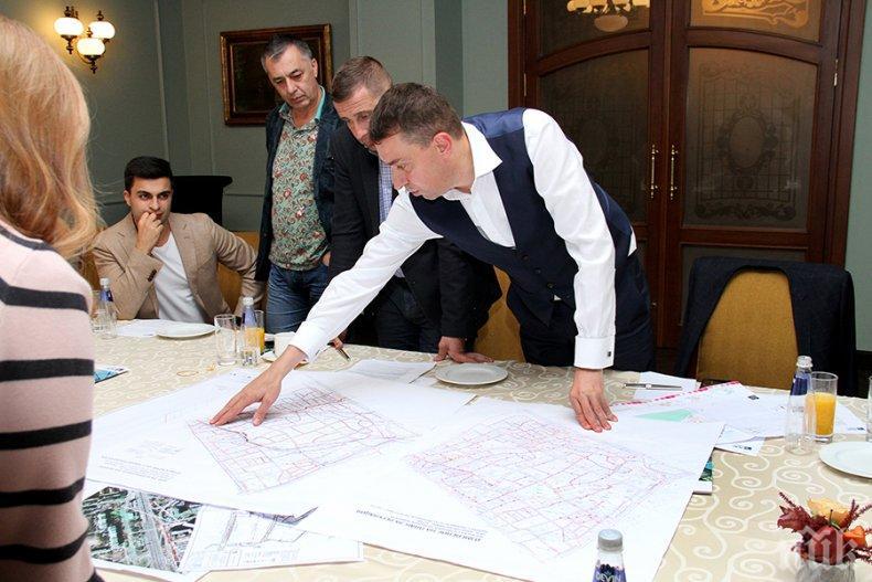 Представители на Столична община и Асоциацията на собствениците на бизнес сгради обсъдиха развитието на транспортната инфраструктура в София (СНИМКИ)