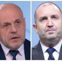 Томислав Дончев за Радев: Г-н президентът се е позиционирал като най-върлия опонент на кабинета