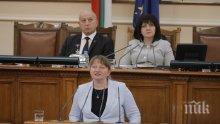 Депутатите привикват Деница Сачева за мярката 60 на 40 и за пенсиите